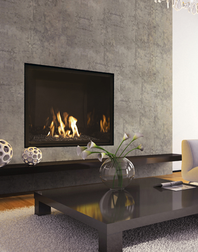 Contemporary gas fireplaces for Contemporary fireplace insert